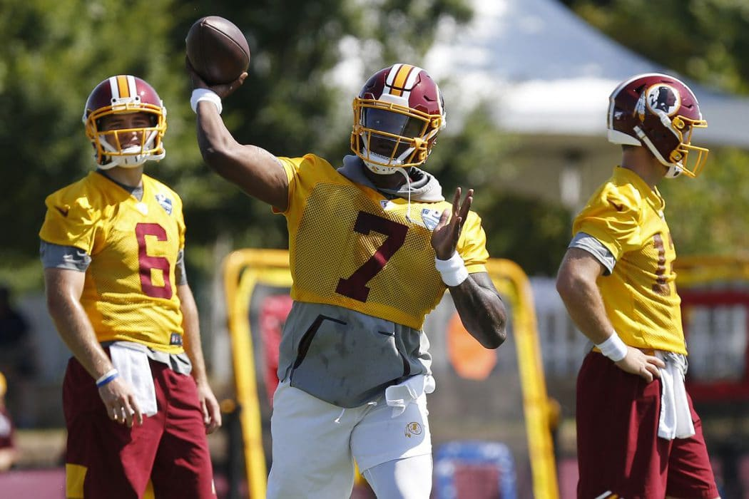 NFL Futures: The Starting Quarterback For The Washington Redskins In Week One Will Be….
