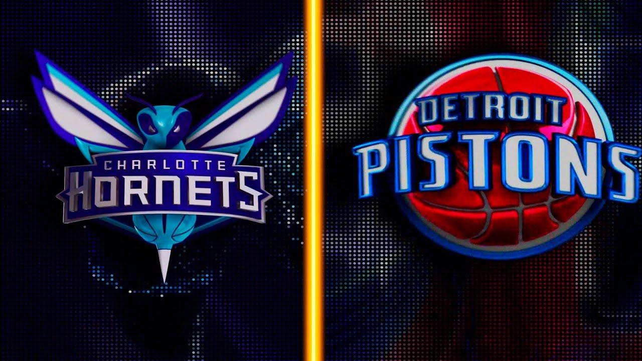 Detroit Pistons vs. Charlotte Hornets ...