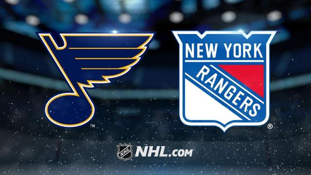 New York Rangers at St. Louis Blues Game Pick & Prediction 1/11/20