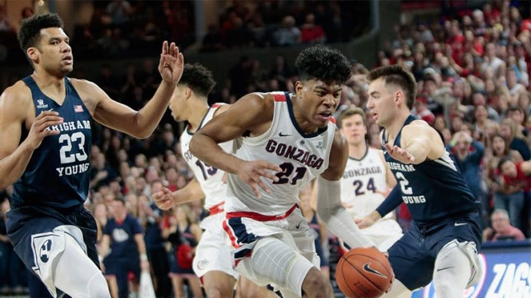 #2 Gonzaga Bulldogs at #23 BYU Cougars –WCC Basketball Odds, Preview & Pick
