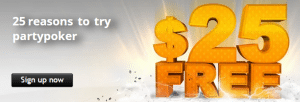25 Free At PartyPoker