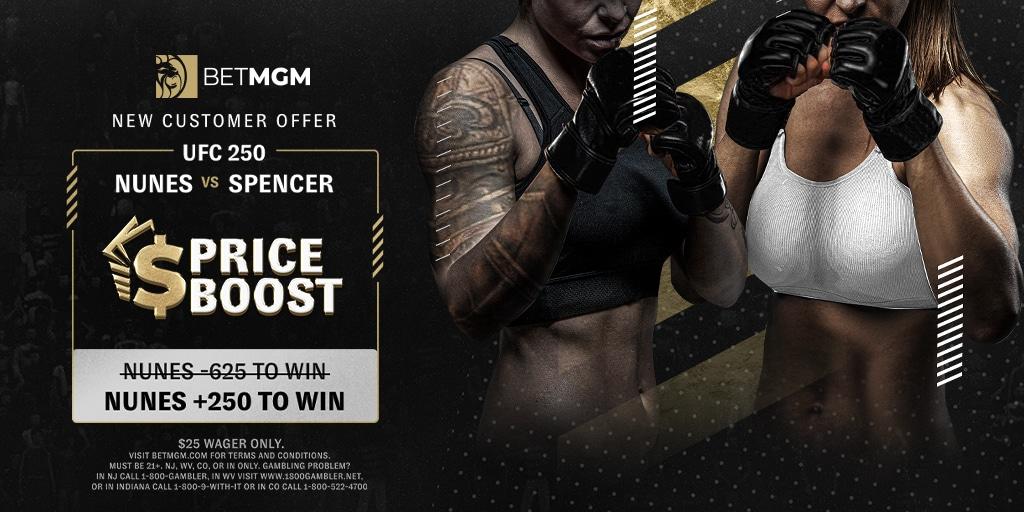 BetMGM Amanda Nunes Odds Boost Offer for UFC 250