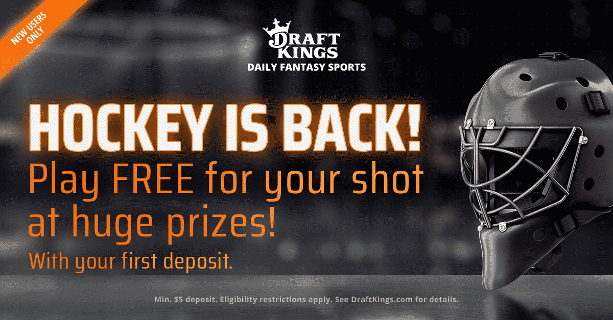 Get $5 Per Goal in Free Bets for the NHL Playoffs at DraftKings Sportsbook