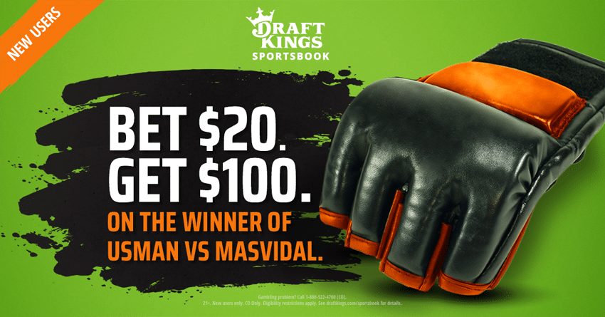 DraftKings Sportsbook Colorado Offers +500 on Usman vs. Masvidal for UFC 251