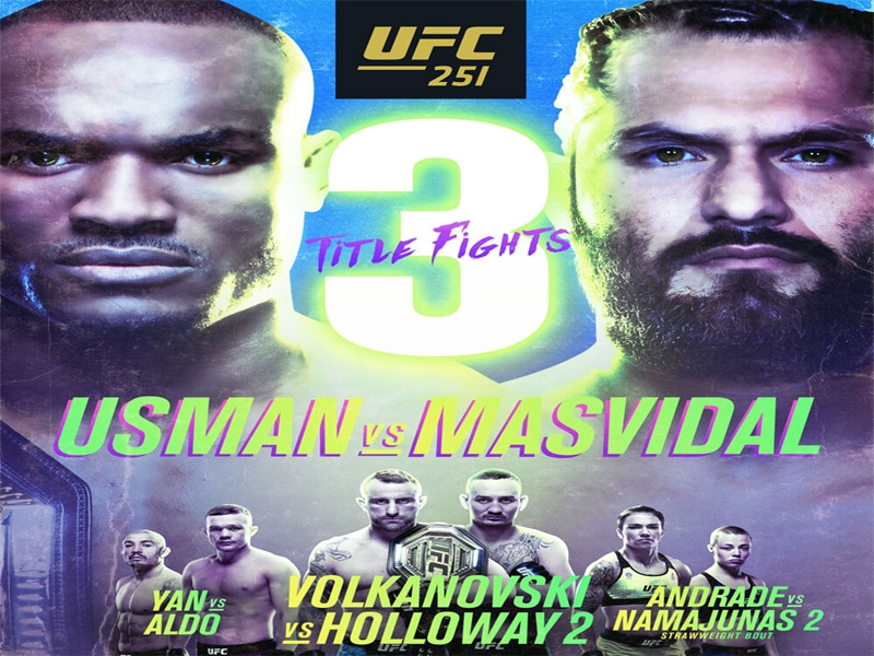 UFC 251 Betting Odds & Preview – Three Title Belts Up for Grabs on Fight Island