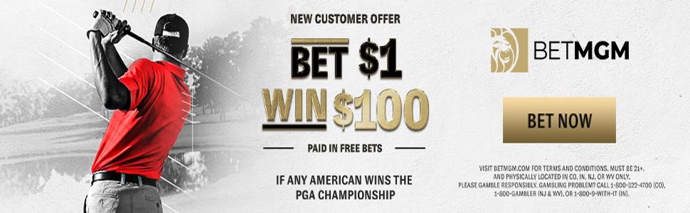 $1 to Win $100 in PGA Championship – BetMGM Sportsbook Promo Offer