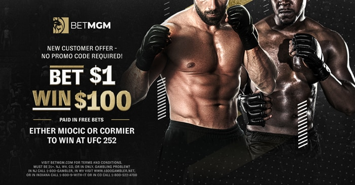 $1 to Win $100 at UFC 252 – BetMGM Sportsbook Promo Offer