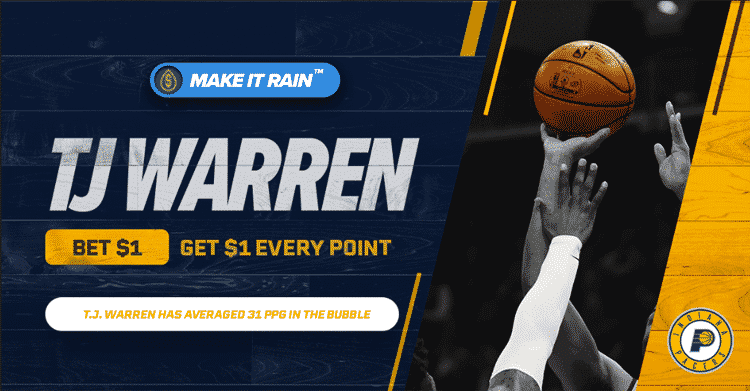 $1 for Every TJ Warren Point in Pacers vs. Heat at PointsBet Sportsbook Indiana