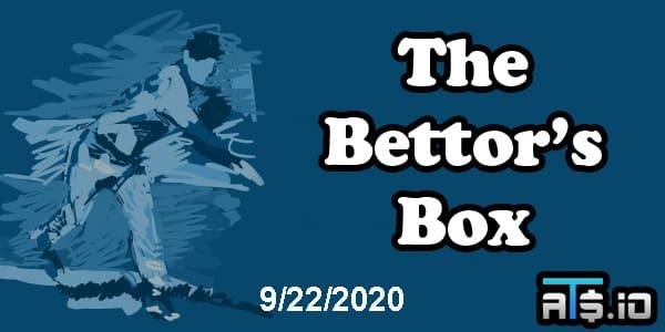 The Bettor's Box MLB Betting Podcast September 22, 2020