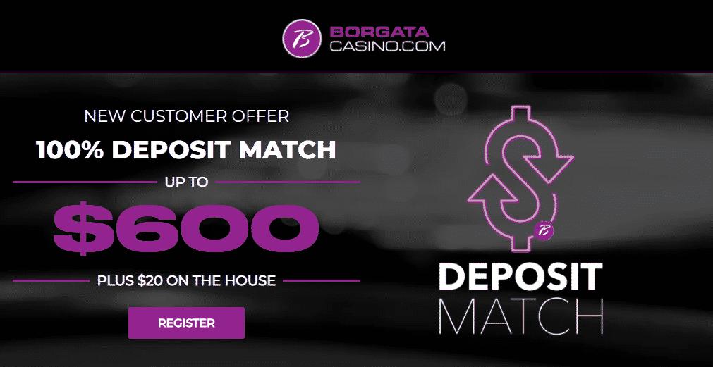 Borgata Casino & Sportsbook Promo – Get $100 in Free Bets or 100% Match Bonus