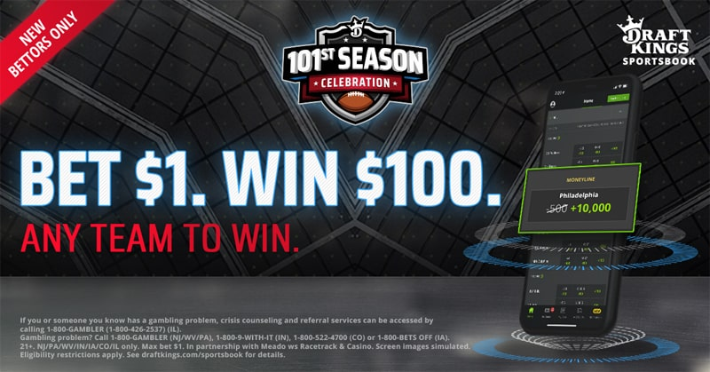 Bet $1, Win $100 NFL Boosted Odds Week 1 – DraftKings Sportsbook Promo Offer