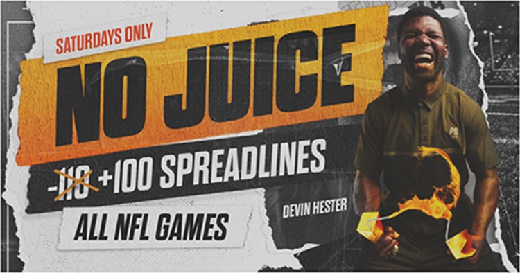 NFL Betting PointsBet Sportsbook Promo: No Juice Saturdays