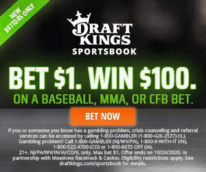 DraftKings Bet 1 win 100
