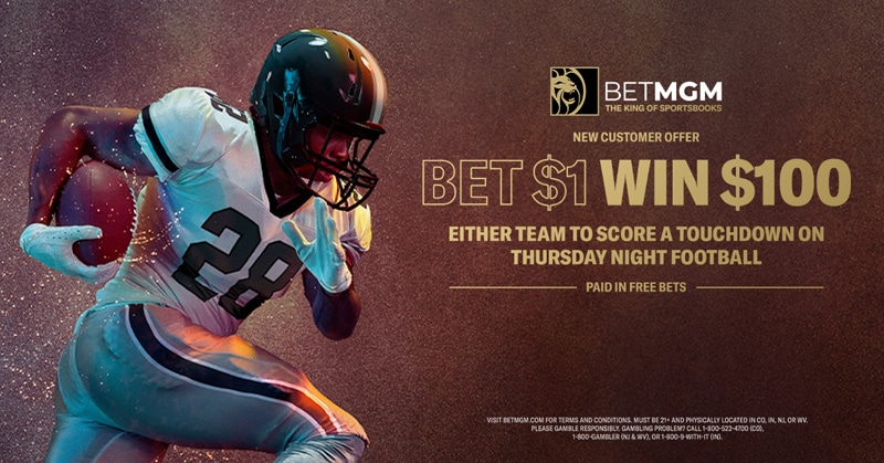 Bet $1 Win $100 on Falcons vs. Panthers Week 8 – BetMGM Sportsbook Promo Offer