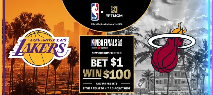 Bet $1, Win $100 If a Three-Pointer is Made in an NBA Finals Game – BetMGM Sportsbook Promo Offer