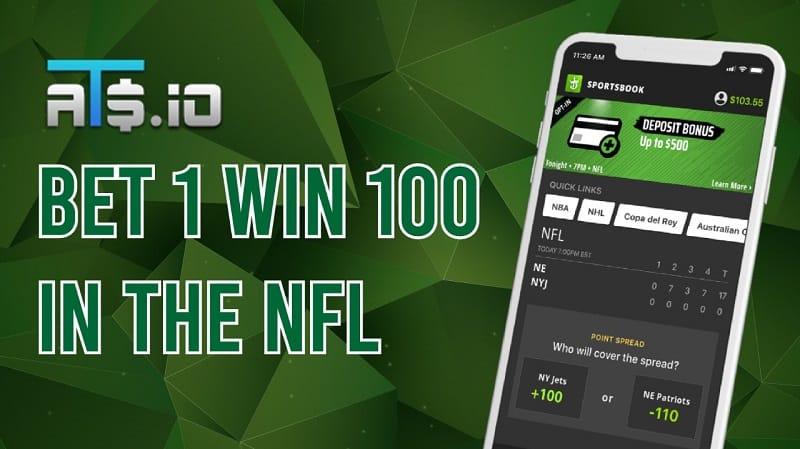 TNF Bet 1 Win 100 Draftkings Promo